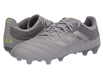 adidas Copa 20.3 FG (Grey Two F17/Silver Metallic/Solar Yellow) Men