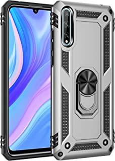 Soosos Case for Huawei P Smart S Case Hybrid Heavy Duty Military Grade Built-in Metal Rotating Ring Kickstand Cell phone P...