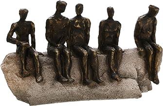 منحوتات رجالية في الجلوس في المنزل من Sagebrook ، برونزي، 15 بوصة طول × 5 بوصة عرض × 10 بوصة ارتفاع (15360)