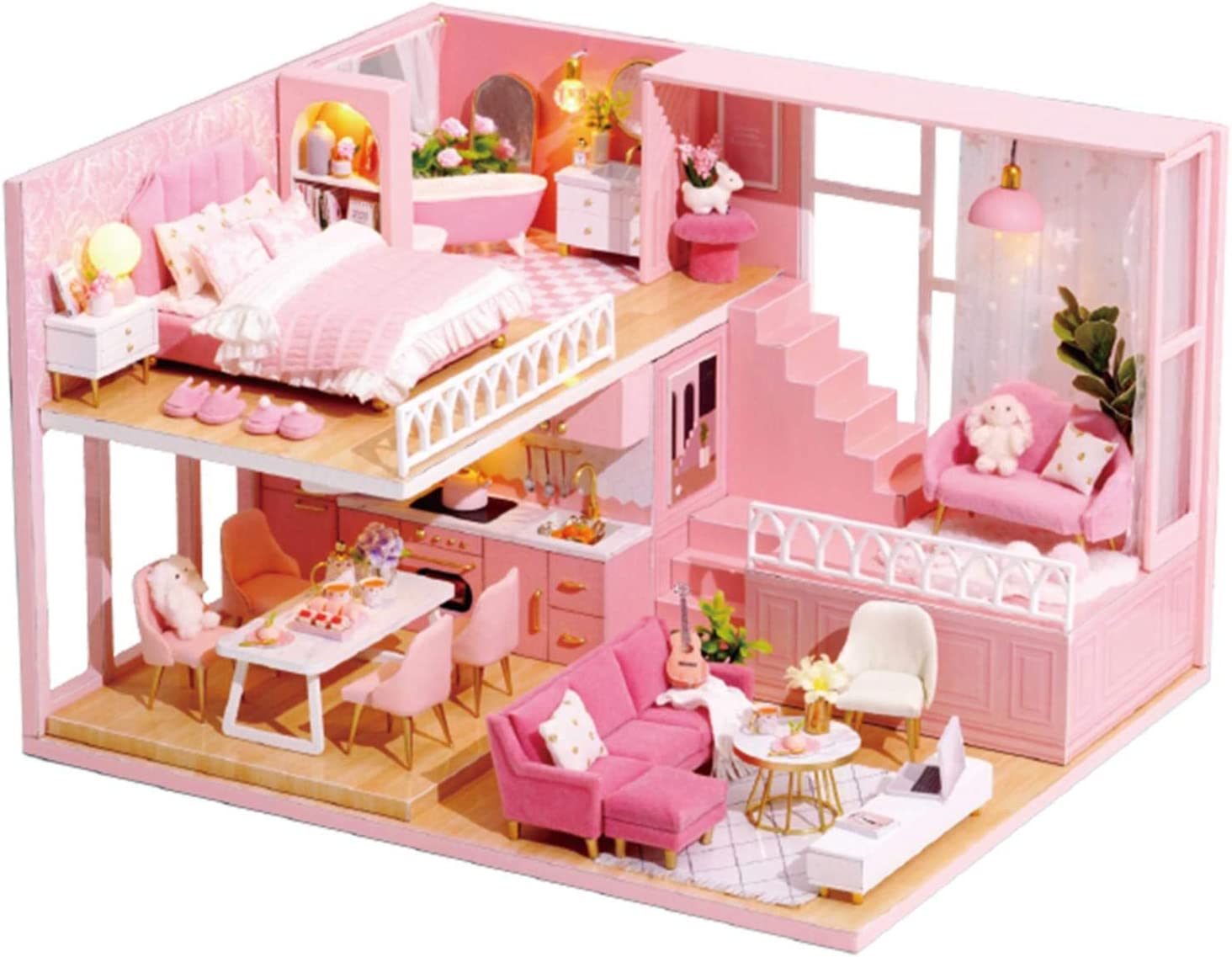 jycous Max 49% OFF DIY Cabin Set - Dollhouse Assembly Inventory cleanup selling sale Three-Dimensional