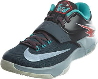 KD VII Men Round Toe Synthetic Black Basketball Shoe