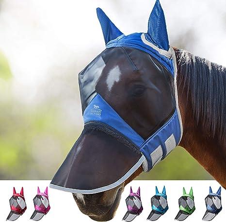 Harrison Howard CareMaster Pro Luminous Fly Mask Full Face Long Nose with Ears