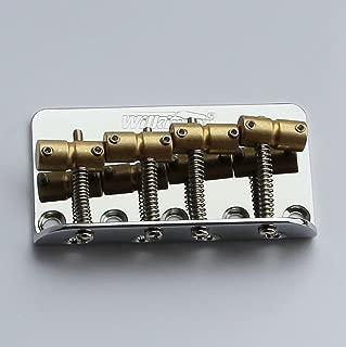 NEW Wilkinson WBBC Brass Saddles Steel Plate 4 String Bass Bridge Precision, Jazz (Chrome)