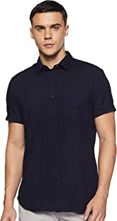 Celio Mens Slim Collar Slub Shirt