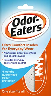 Odor-Eaters Ultra Comfort, Odour-Destroying, Deodorising Comfort Insoles, for Everyday Wear, Pack of 6