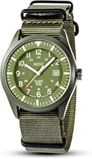 MDC 5ATM Waterproof Watches for Men Military Watch Field Outdoor Sport Mens Wristwatch with Date 24 Hour NATO Band