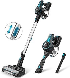 掃除機 コードレス 12000Pa 超強吸引力 サイクロン式 掃除機 強弱切替 コードレス掃除機 スティッククリーナー & ハンディ掃除機 2-IN1 130W INSE (ブルー)