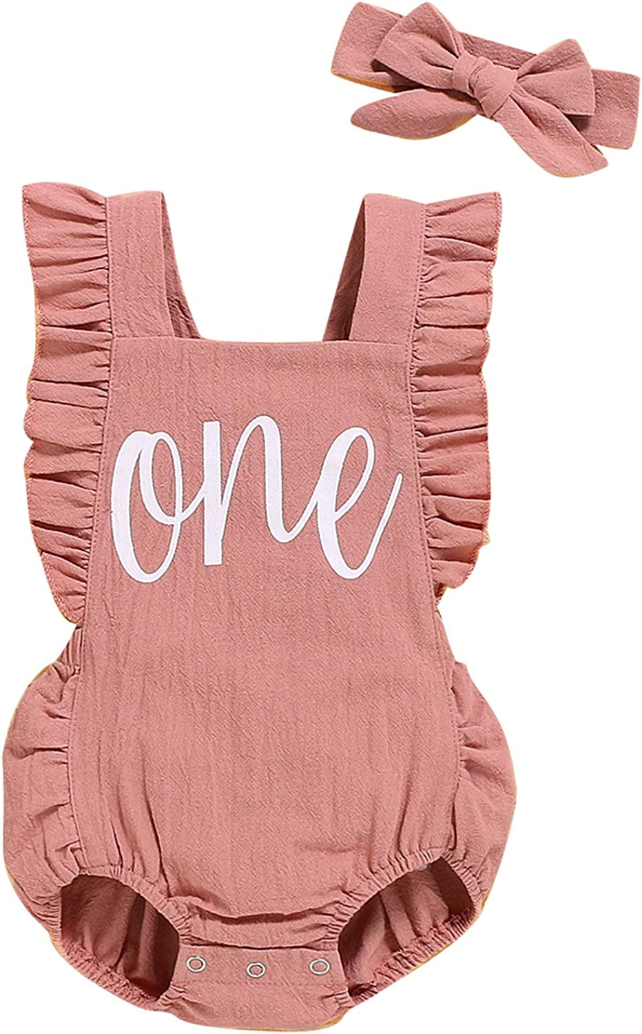 Shalofer Baby Girls One Year Old Birthday Romper Special Campaign C specialty shop Outfits First