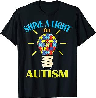 Shine A Light On Autism Shirt Men Women Puzzle Piece