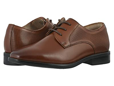 Florsheim Kids Postino Plain Toe Ox, Jr. (Toddler/Little Kid/Big Kid) (Cognac) Boy