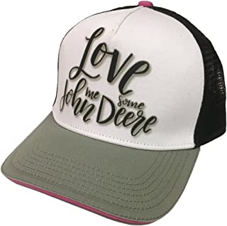 John Deere Brand Love Black Adjustable Hat - 23080455BK