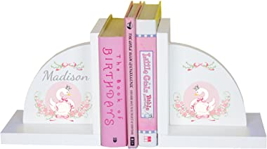 MyBambino Girl's Personalized Swan Bookends