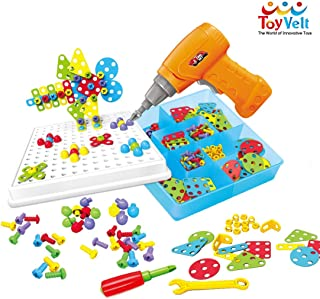 Toyvelt Building Block Games Set With Toy Drill & ScrewDriver Tool set Educational..