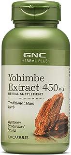 GNC Herbal Plus Yohimbe Extract 450 mg (100 Capsules)