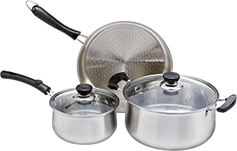 RC Global Stainless Steel 5-in-1 Cooking Set