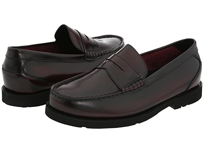 Rockport  Oak Knoll - Shakespeare Circle (Burgundy Brush Off) Mens Slip-on Dress Shoes