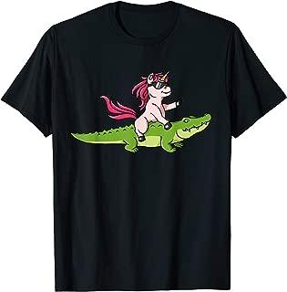 Alligator Unicorn Shirt Crocodile Gator Reptile Men Boys Tee T-Shirt