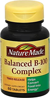 Nature Made Balanced Vitamin B-100 Complex Tablets 60 ea (Pack of 4)