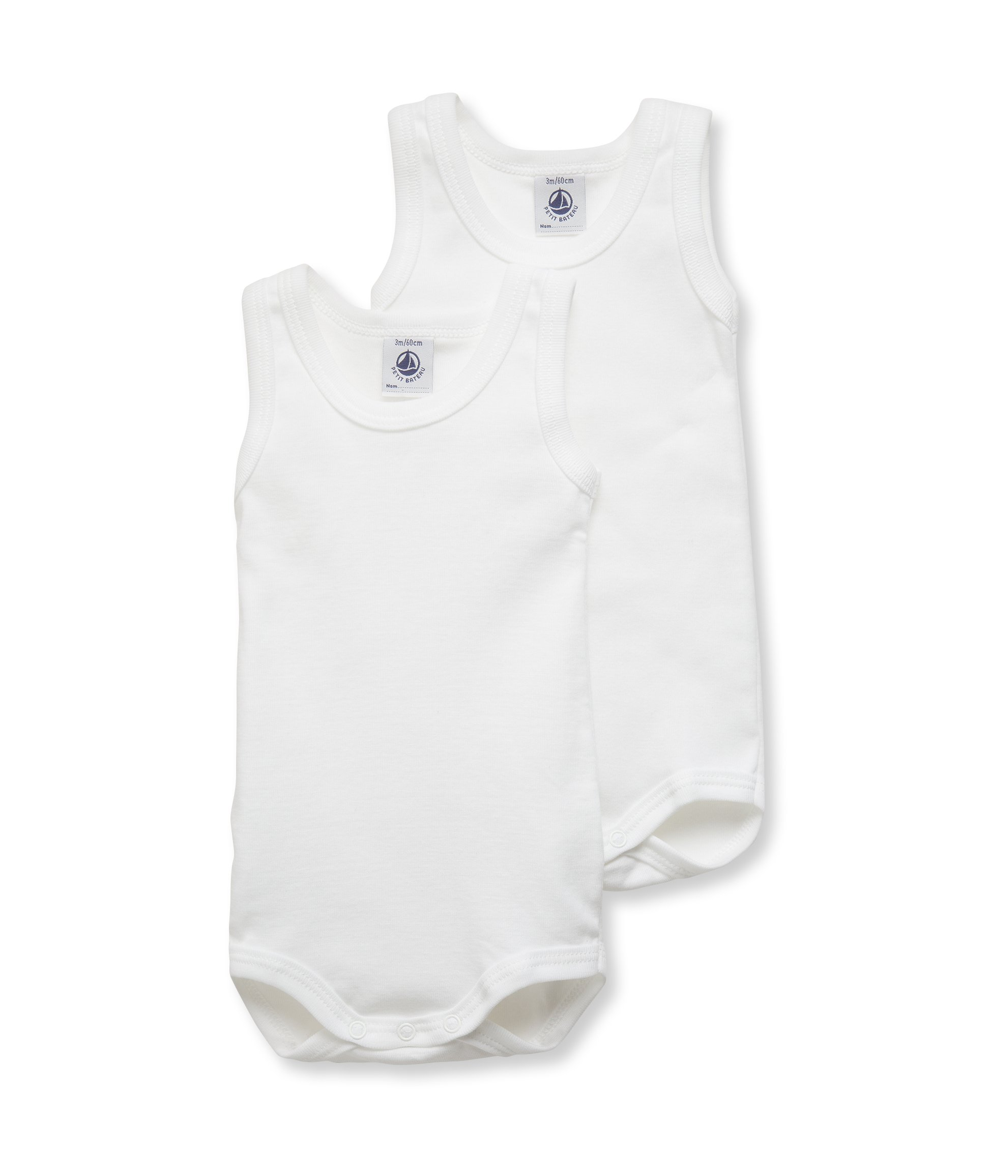 Unisex Baby 2 Pack Tank Bodysuits