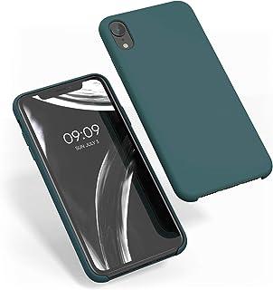 kwmobile Hülle kompatibel mit Apple iPhone XR   Handyhülle gummiert   Handy Case in Blaugrün