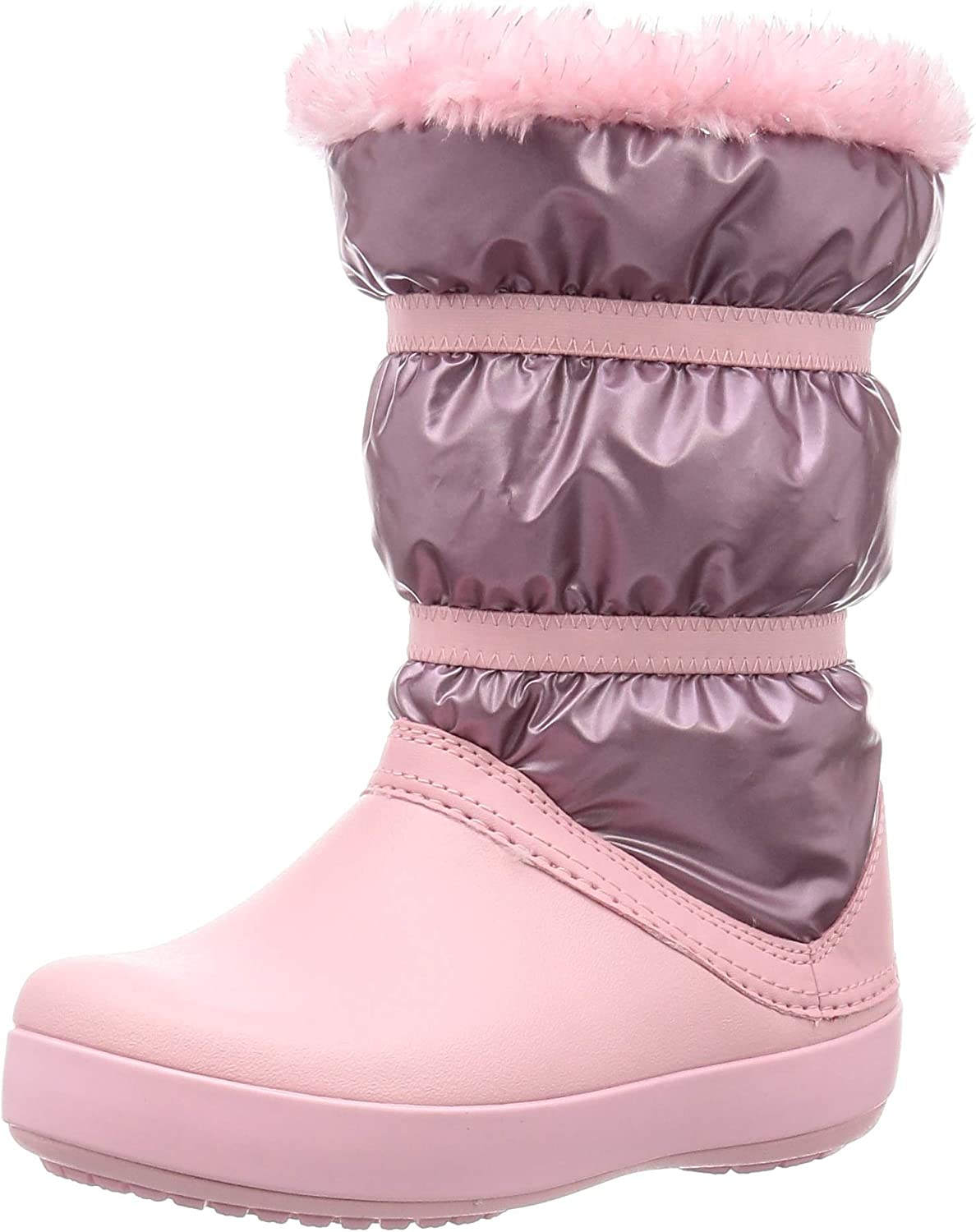 Crocs Manufacturer regenerated product Crocband LodgePoint Metallic Boot Snow Rose M Gold 11 In a popularity US