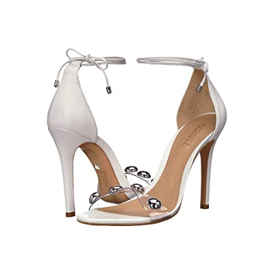 Schutz Ramon (White/Transparent) High Heels