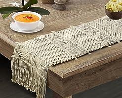 Party Stuff Macrame Table Runner, Dining Mat, 14x84 Inch Handwoven Bedroom Home Decor Long Mat (Design 2)