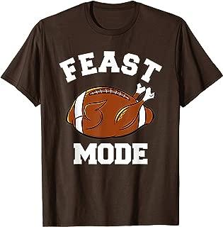 Funny Cute Thanksgiving Feast Mode Turkey Football Boys Mens T-Shirt