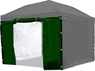 Punchau Canopy Side Wall Door - Green Sidewall with Door for 10x10 Feet Pop Up Canopy Tent
