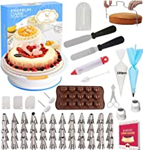 165 pcs Cake Decorating Supplies Kit by Cake Decorating District - includes 48 Icing Tips - Silicone Pastry Bag and Dispos...