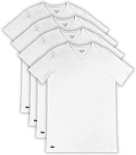 Lacoste Men's Classic Fit Cotton V Neck T-Shirt, 4 Pack