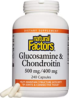 Natural Factors Glucosamine and Chondroitin Sulphate 900 mg 240 Capsules, 200 gm