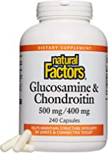 Natural Factors, Glucosamine & Chondroitin, Supports Healthy Joints, Cartilage and Connective Tissue, 240 Capsules (80 Servings)