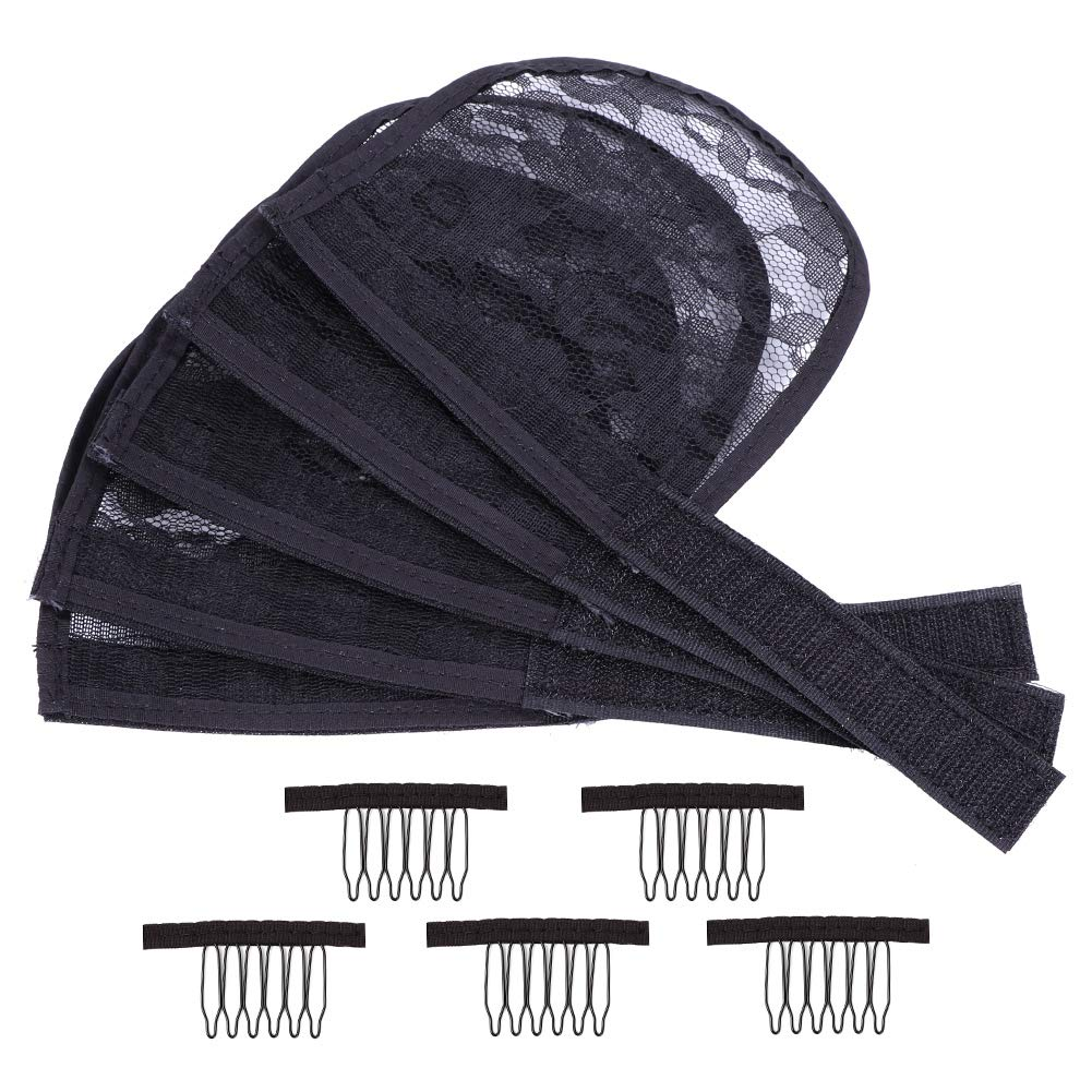 5PCS Lace Base for Ponytail New item with - Large OFFicial shop Net Hair Maki Combs