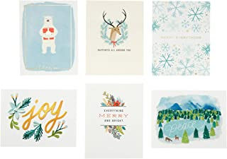 Hallmark Christmas Cards Assortment, Holiday Icons (6 Cards with Envelopes)