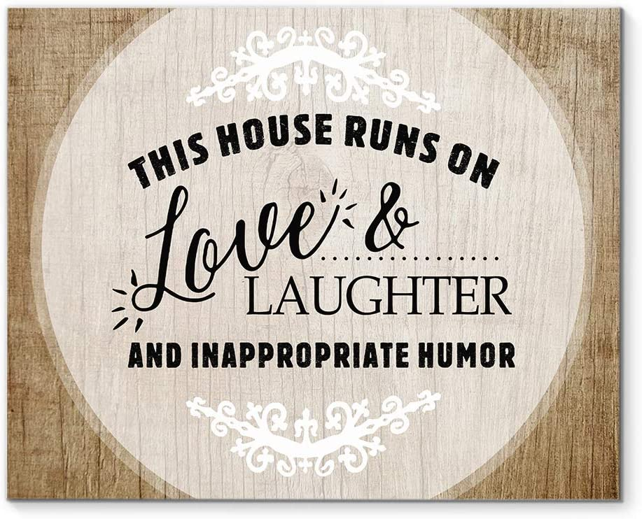 DesDirect Store This House Runs On and Super special price Art Laughter Love Long-awaited Canvas