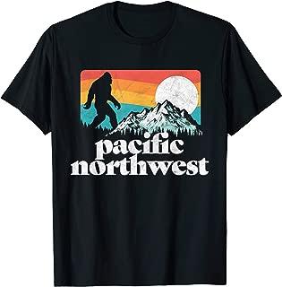 Pacific Northwest Bigfoot Mountains T-Shirt