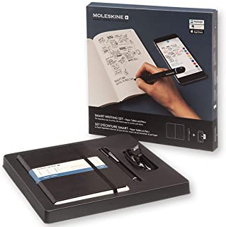 Moleskine Pen+ Smart Writing Set Pen & Dotted Smart Notebook - Use with Moleskine App for Digitally Storing Notes (Only compatible with Moleskine Smart Notebooks)