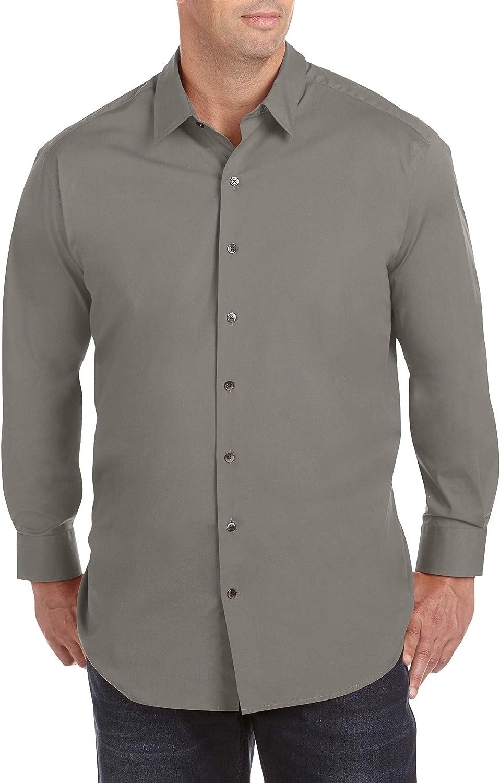 Twenty-Eight Degrees DXL Big and Tall Degrees Solid Stretch Sport Shirts (XL-Tall, Grey)