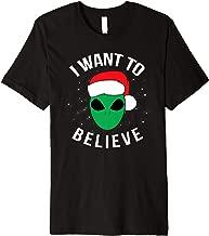I Want To Believe Alien Santa Christmas T Shirt