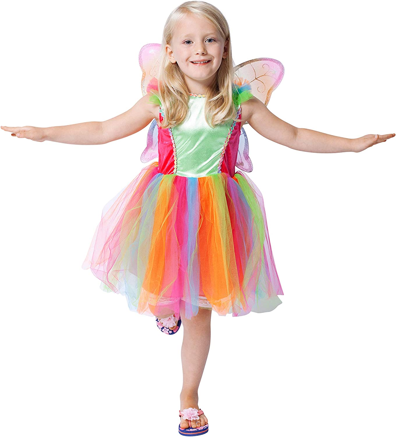Generique Colourful Fairy Costume for Kids 910 years