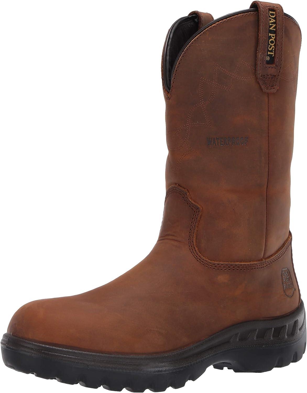 Dan It is very popular Post Men's Pull NEW before selling Western Boot TAN 11.5 Wide