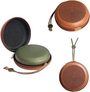 GubestポータブルEVA PU Beoplay A1 BluetoothスピーカーケースB&O Play用カバープロテクターBANG&OLUFSEN BeoPlay A1 Bluetooth Speaker(ブラウン)