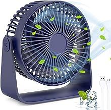 Mini bureauventilator met USB, TedGem USB-ventilator USB Desktop Ventilator, 360 ° rotatie Stille USB-ventilator kan Aroma...
