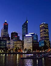 Notebook: Perth Western Australia Australian Swan River City Lights