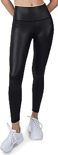 Cover Girl Lustrous Leggings - High Compression Nylon Tights for Women, Black, 27 Inseam