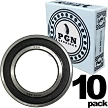 PGN - 6008-2RS Sealed Ball Bearing - 40x68x15 - Lubricated - Chrome Steel (10 PCS)