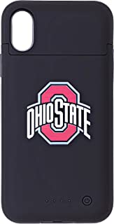 EliteAuto3K Ohio State Buckeyes Rechargeable iPhone Charging Case (5200mAh) - iPhone Wireless Charger for X Xs, Slim Protective External Battery Pack for Apple iPhone Xs and iPhone X (5.8