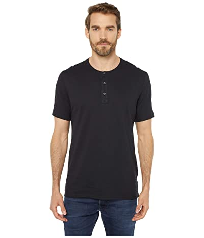Threads 4 Thought Performance Pique Short Sleeve Henley (Black) Men