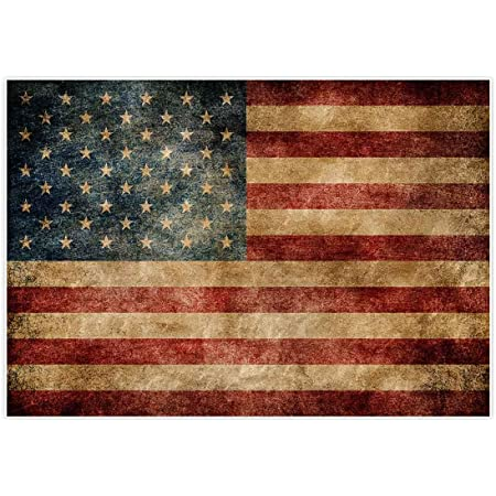 CSFOTO 7x5ft Fourth July Independence Day Backdrops American Flag Photography Background Celebration Banner National Symbol White Stars Red White Striped Photo Video Props Wallpaper